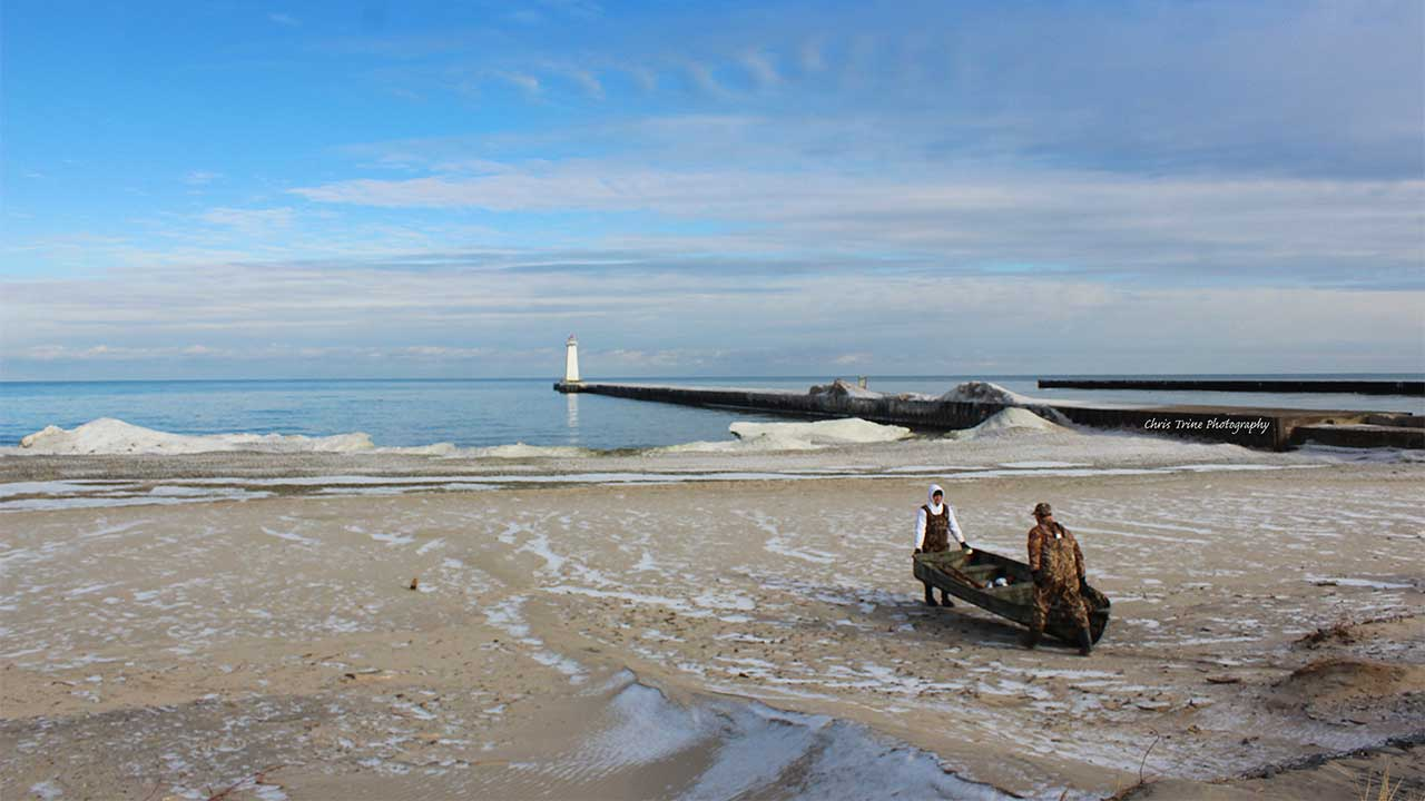 January launch for duck hunters at Sodus Point (photo)